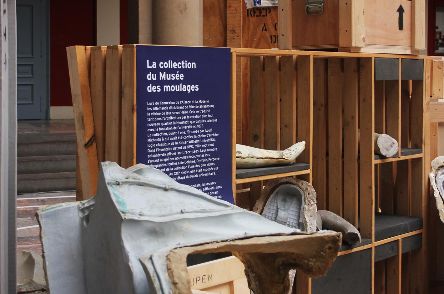Via la Grèce — Palais Universitaire de Strasbourg — Musée Adolf Michaelis — invitation vernissage