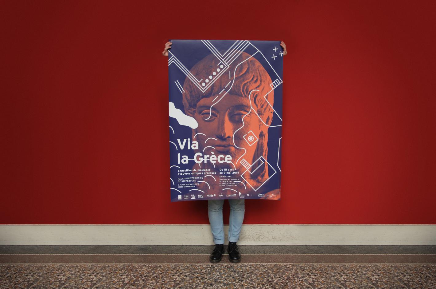 Via la Grèce — Palais Universitaire de Strasbourg — Musée Adolf Michaelis — affiches