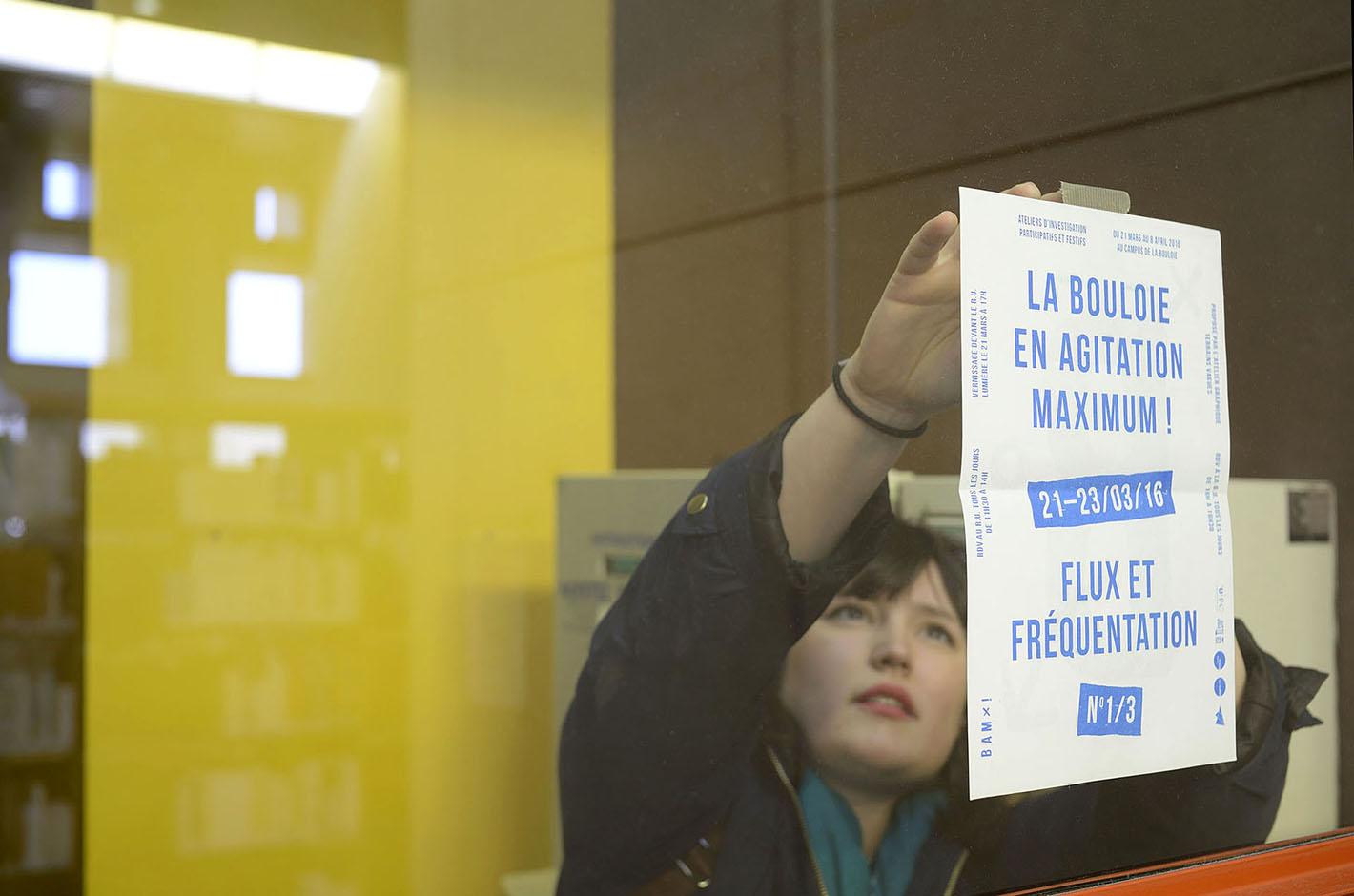 BAM ! La Bouloie en Agitation Maximum - Besançon - Campus de la Bouloie - accrochage affiche