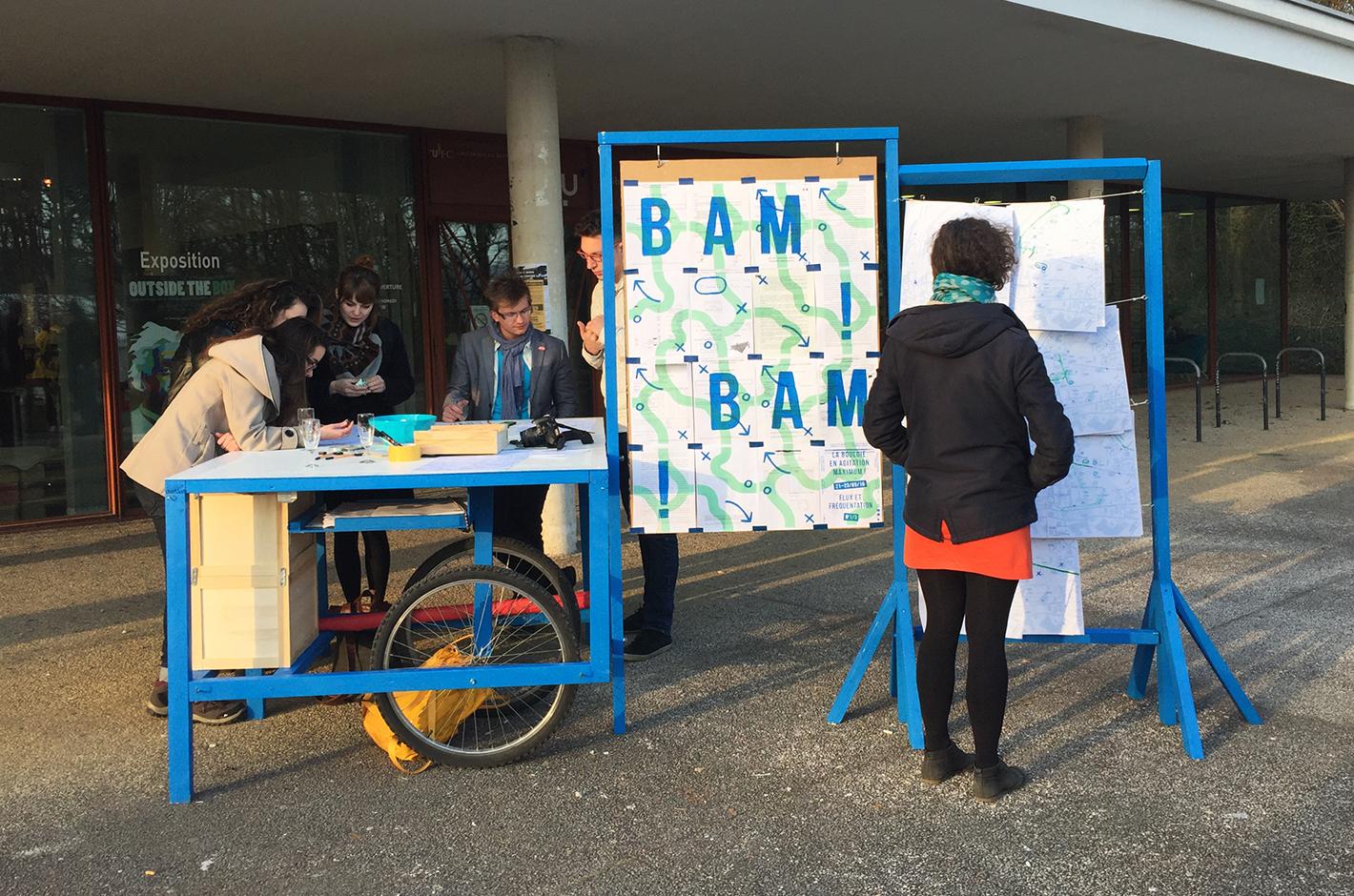BAM ! La Bouloie en Agitation Maximum - Besançon - Campus de la Bouloie - meuble et affiche