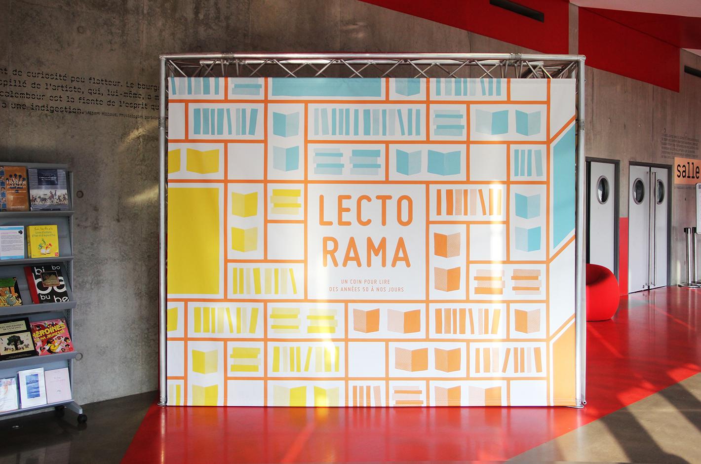 Affiche Lectorama - Un coin pour lire des années 50 à nos jours — exposition — médiathèque Malraux