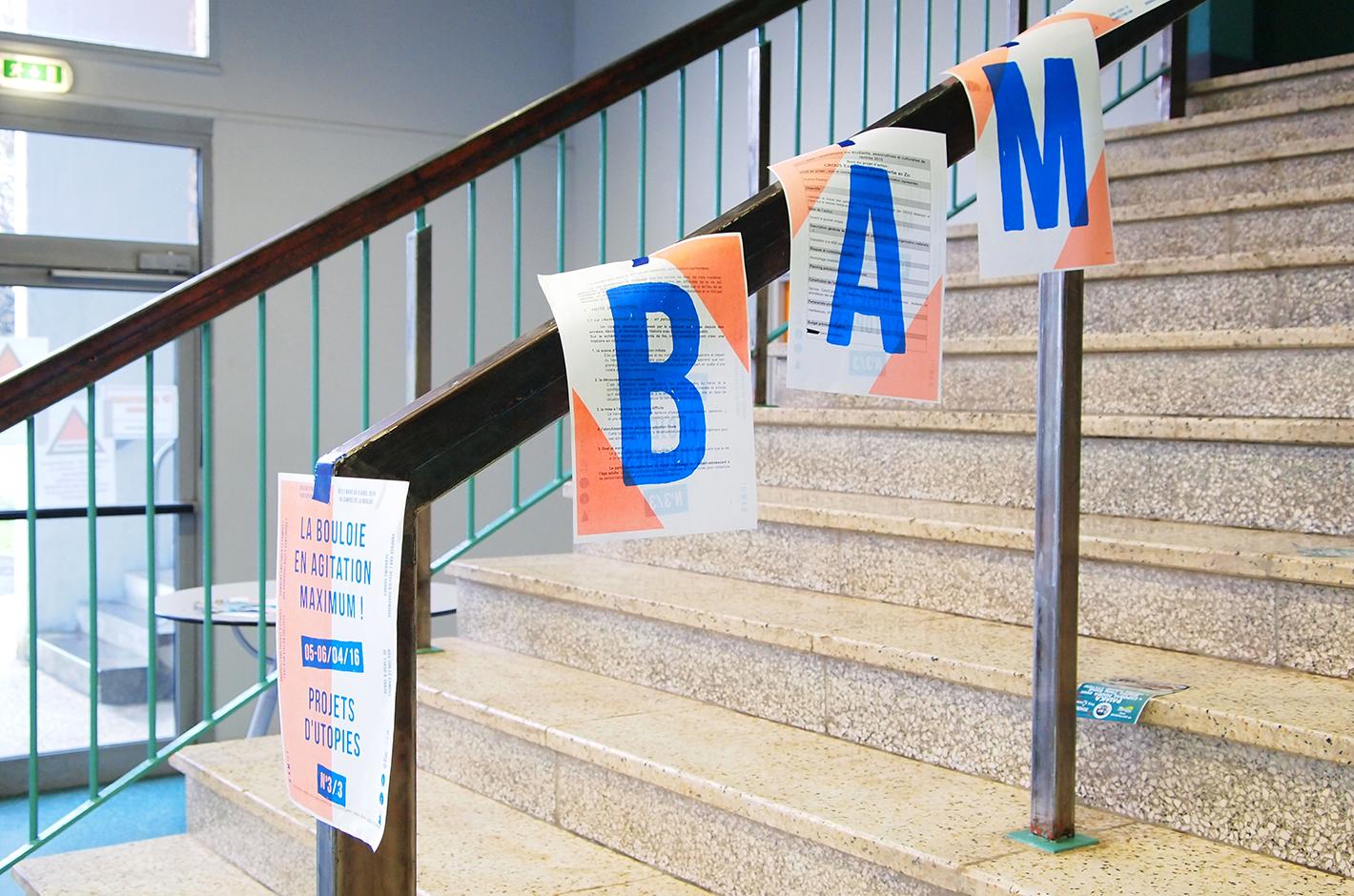 BAM ! La Bouloie en Agitation Maximum - Besançon - Campus de la Bouloie - affiche 3 projets d'utopies
