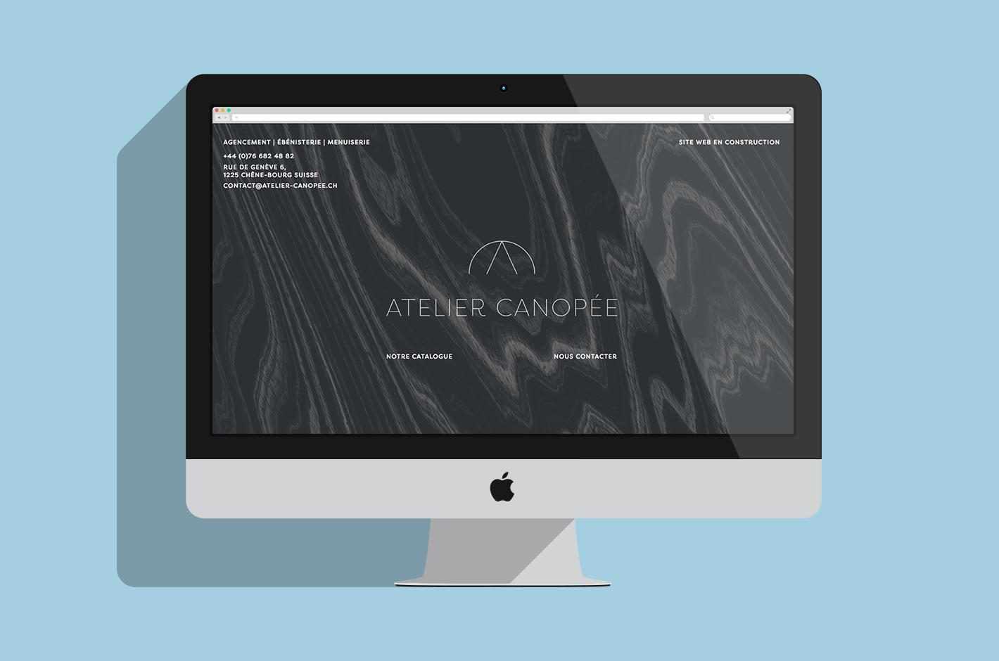Atelier canopée — carte de visite — menuiserie — ébénisterie — design — suisse
