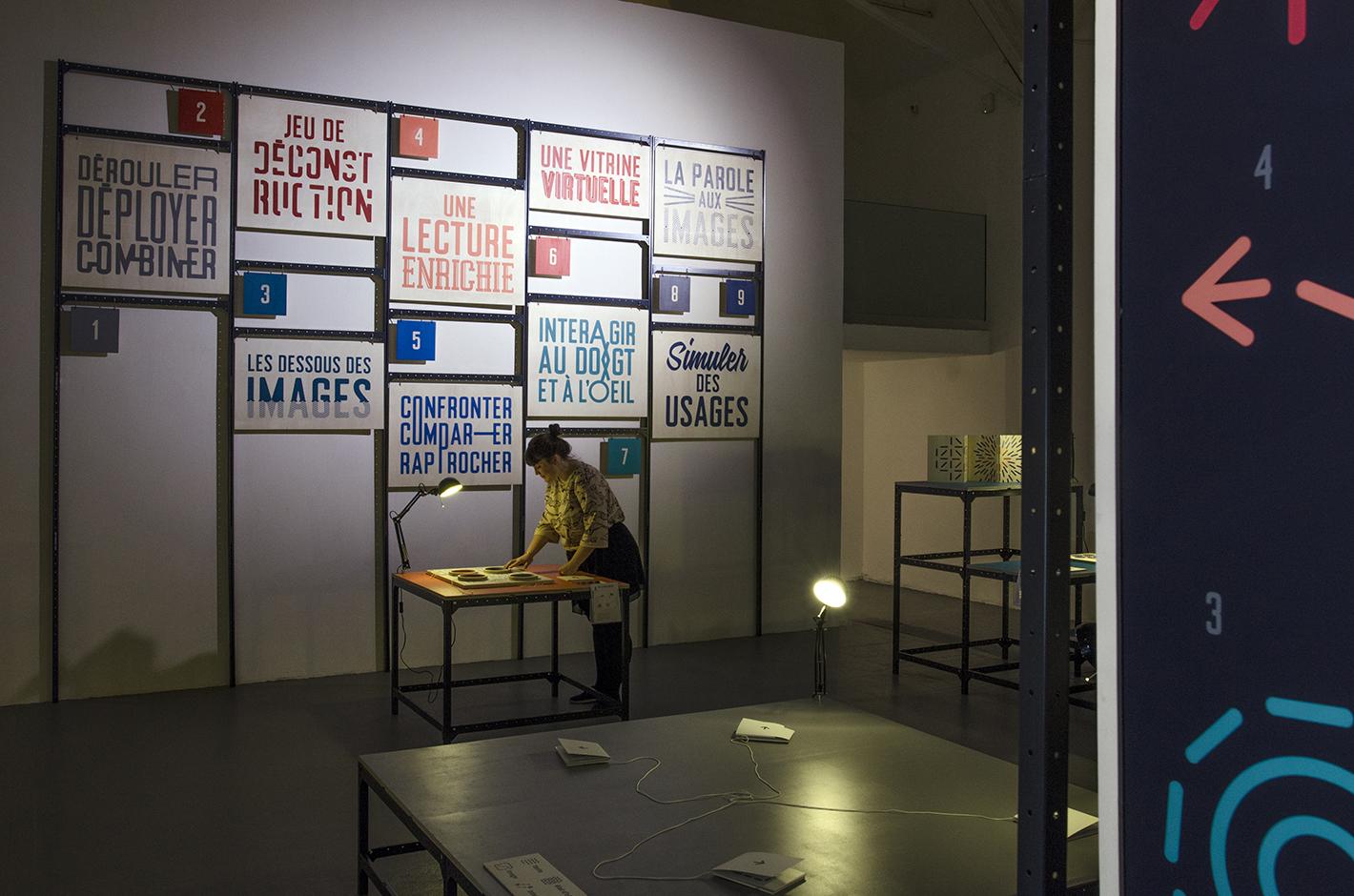 Des objets, des images et des gestes — exposition didactique visuelle — La chaufferie, Strasbourg — 2015
