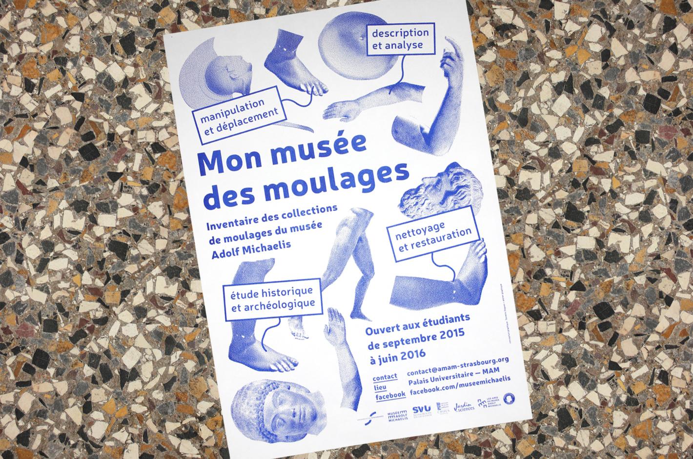 Musée Adolf Michaelis —affiche Mon musée des moulages