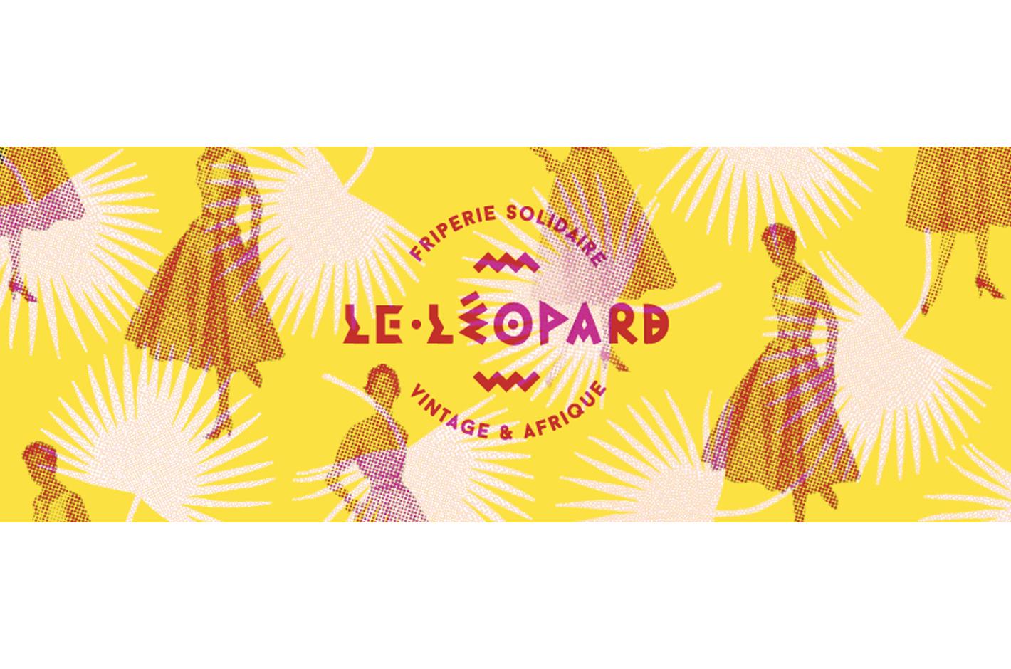 Identité pour la boutique Le léopard — Strasbourg